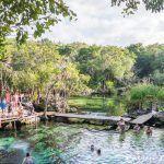 El Cenote Azul en la Riviera Maya.